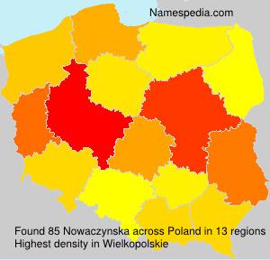 Surname Nowaczynska in Poland