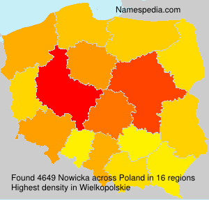 Surname Nowicka in Poland