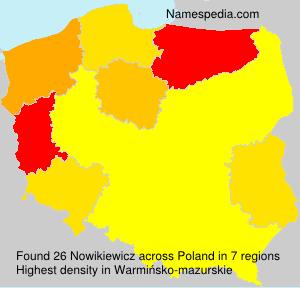Familiennamen Nowikiewicz - Poland