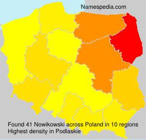 Familiennamen Nowikowski - Poland