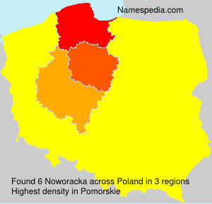 Surname Noworacka in Poland