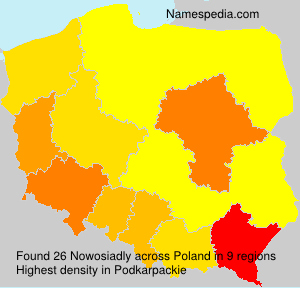 Surname Nowosiadly in Poland