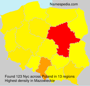 Surname Nyc in Poland