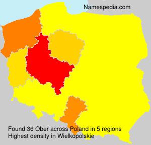 Familiennamen Ober - Poland
