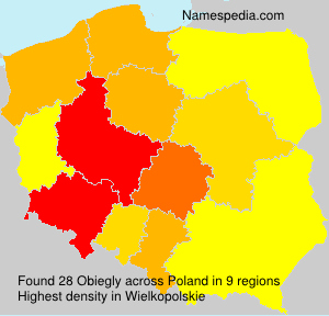 Surname Obiegly in Poland