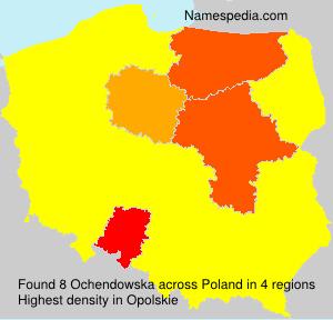 Surname Ochendowska in Poland