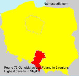 Surname Ochojski in Poland