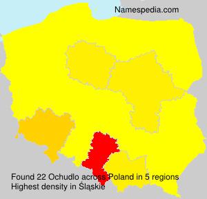 Surname Ochudlo in Poland