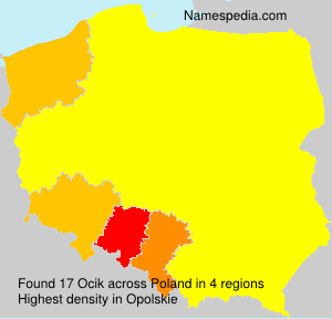 Surname Ocik in Poland