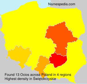 Familiennamen Ocios - Poland