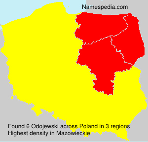 Surname Odojewski in Poland
