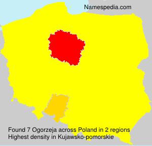 Surname Ogorzeja in Poland