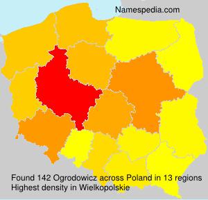 Surname Ogrodowicz in Poland