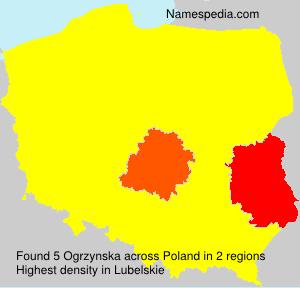 Surname Ogrzynska in Poland
