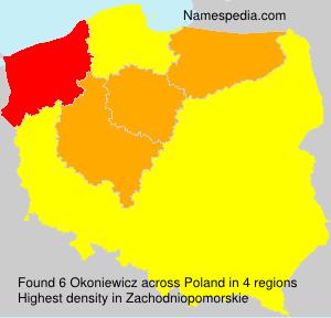 Surname Okoniewicz in Poland