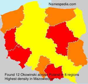 Surname Okowinski in Poland