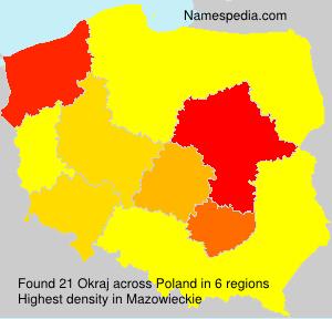 Surname Okraj in Poland