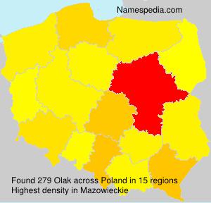 Surname Olak in Poland