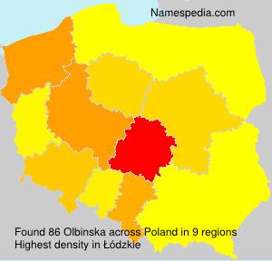 Surname Olbinska in Poland