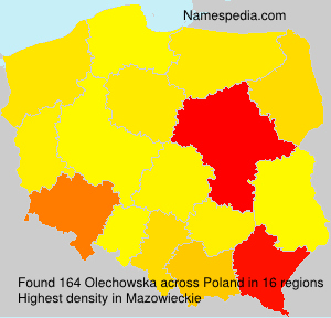 Surname Olechowska in Poland