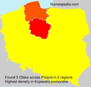 Surname Olska in Poland