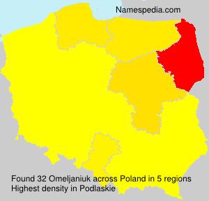 Surname Omeljaniuk in Poland