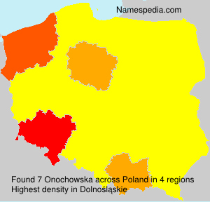 Surname Onochowska in Poland