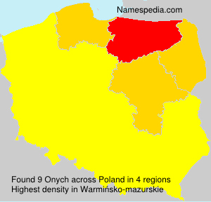 Surname Onych in Poland
