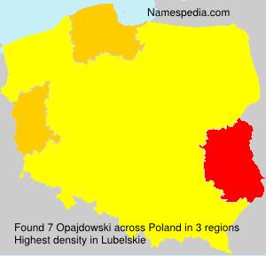 Familiennamen Opajdowski - Poland