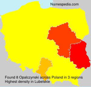 Familiennamen Opalczynski - Poland