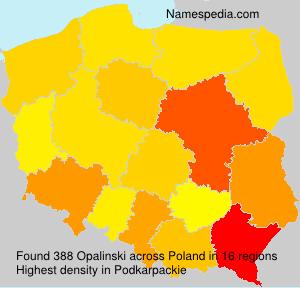Familiennamen Opalinski - Poland