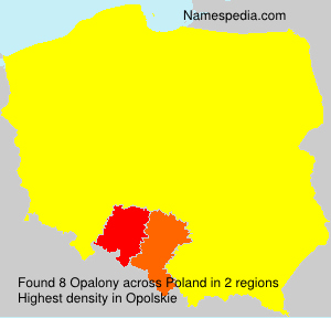 Familiennamen Opalony - Poland