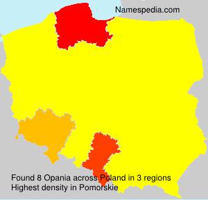 Familiennamen Opania - Poland
