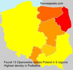 Familiennamen Opanowska - Poland