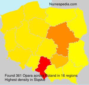 Familiennamen Opara - Poland