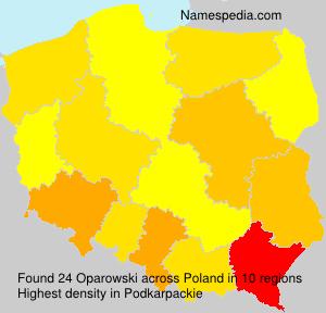 Familiennamen Oparowski - Poland