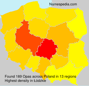 Surname Opas in Poland