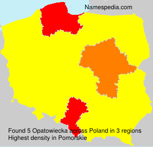 Familiennamen Opatowiecka - Poland