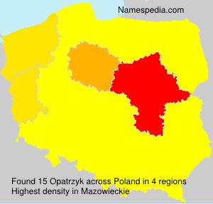 Familiennamen Opatrzyk - Poland