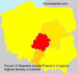 Familiennamen Opawska - Poland