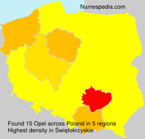 Surname Opel in Poland