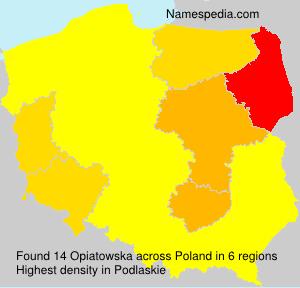 Surname Opiatowska in Poland