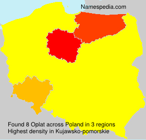 Surname Oplat in Poland