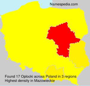 Surname Oplocki in Poland