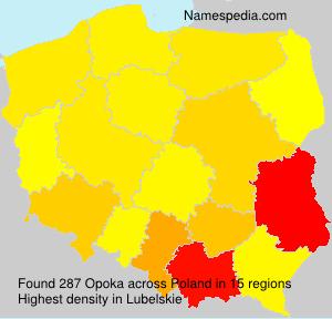 Surname Opoka in Poland