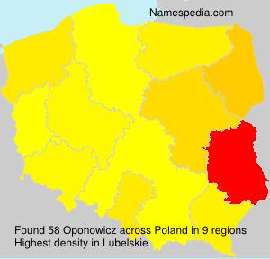 Familiennamen Oponowicz - Poland