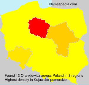 Surname Orankiewicz in Poland