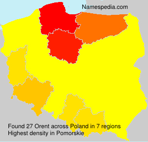 Surname Orent in Poland