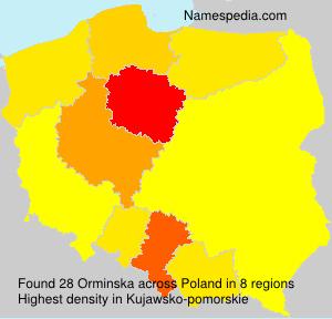 Surname Orminska in Poland