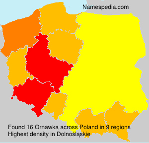 Familiennamen Ornawka - Poland